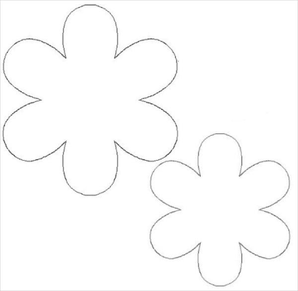 3D Flower Cut Out Template