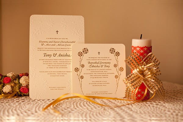 Catholic Wedding Event Program Template