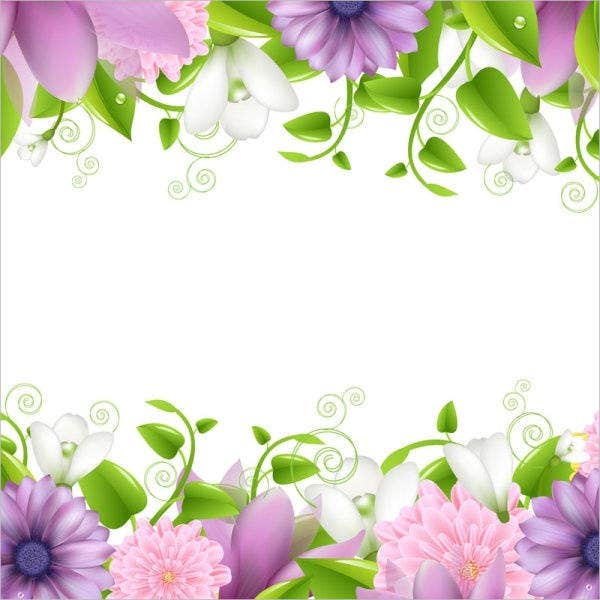 spring-flower-border-template