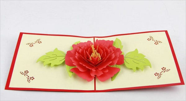 3D Pop Up Flower Card Template