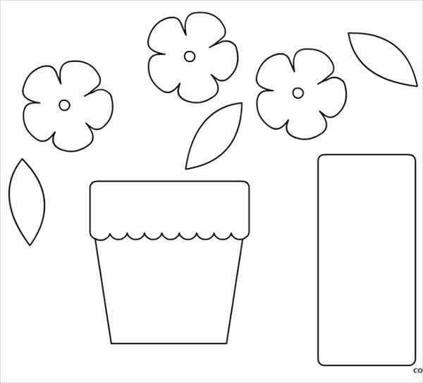 Paper Flower Pot Template Pictures to Pin on Pinterest ...