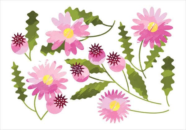 daisy-flower-leaf-template