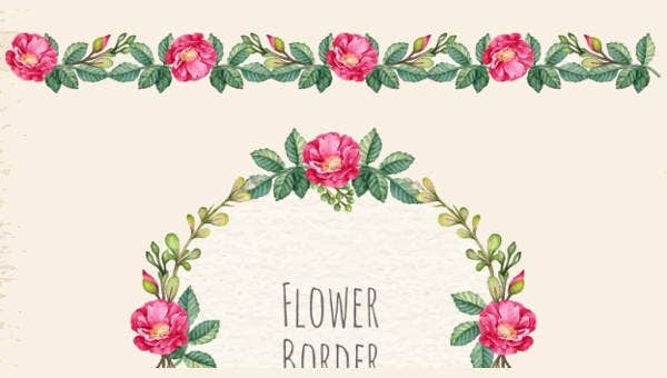 9 Flower Border Templates Psd Vector Eps Ai Illustrator