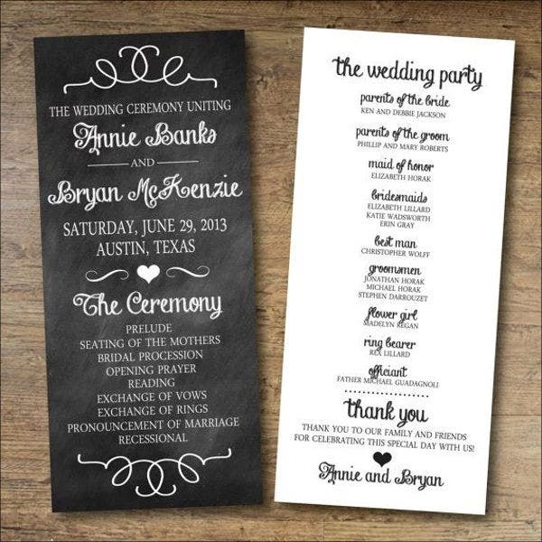 Beach Wedding Program Templates  Psd Vector Eps Ai