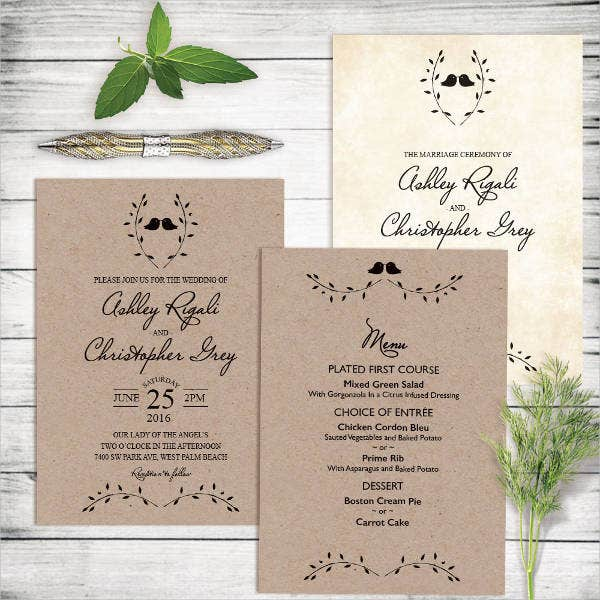 diy thank you wedding program template