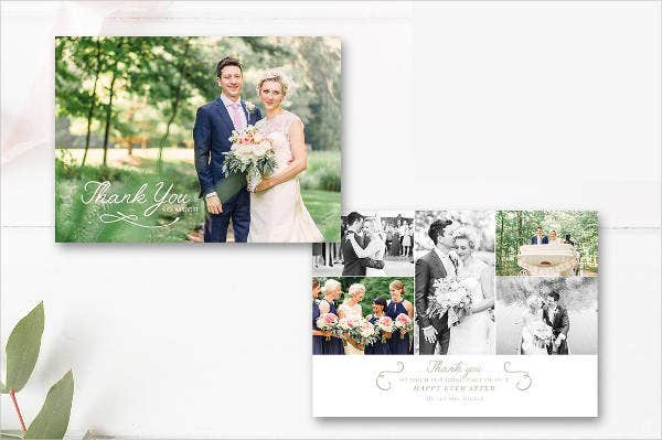 unique thank you wedding program template