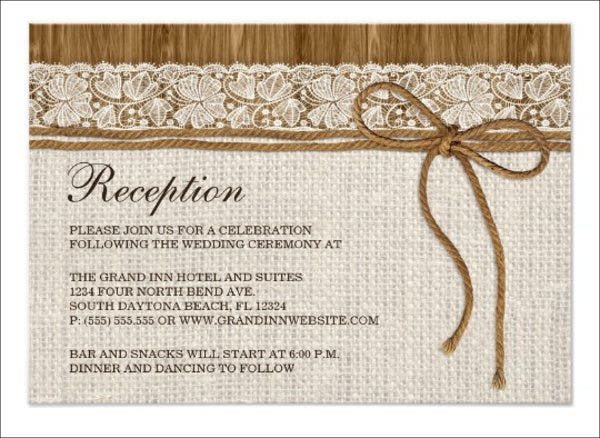 wedding reception dinner program template