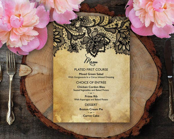 diy wedding dinner program template