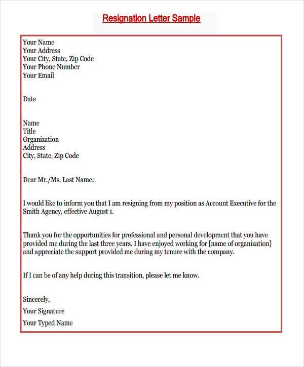 sample of resignation letter new job resignation letter for better pay new job resignation letter template 6 free word pdf format 10 sample resignation - Job Resignation How To Resign Leave A Job