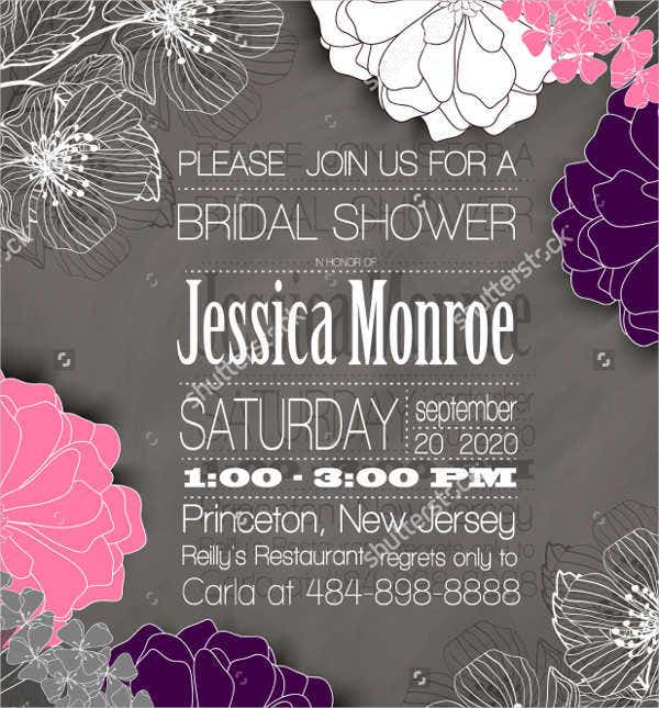 wedding shower party program template