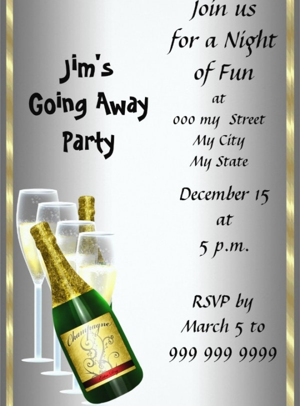 Farewell Cocktail Party Drinks Invitation