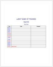 training-agenda-template