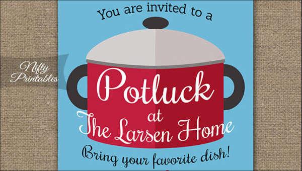 image regarding Potluck Invitation Template Free Printable called 13+ Potluck E-mail Invitation Templates - PSD, AI No cost