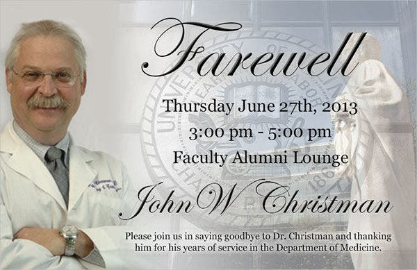 8  farewell lunch invitations