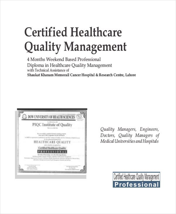 Quality Management Certificate 8 Free Pdf Documents Download