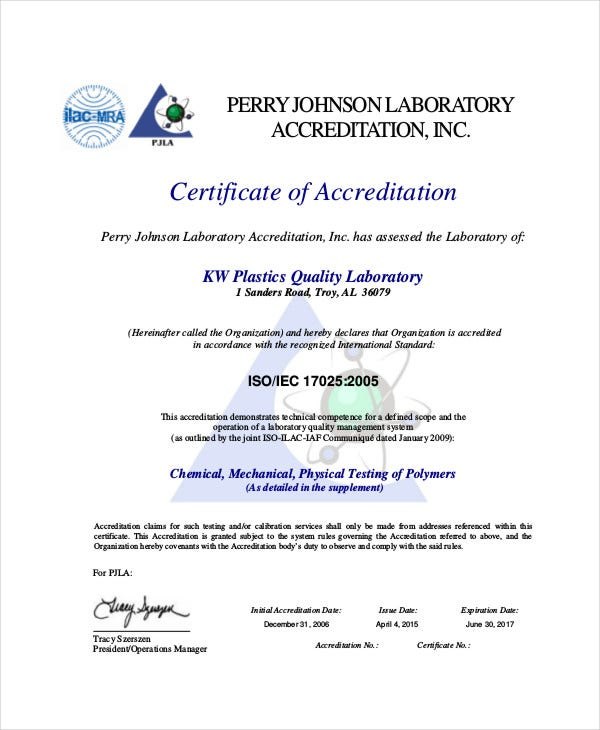 quality management certificate 8 free pdf documents