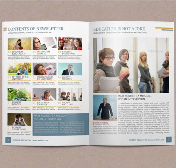 free printable student newspaper template