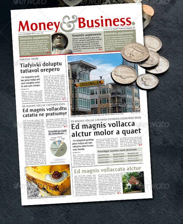 student finance newspaper template