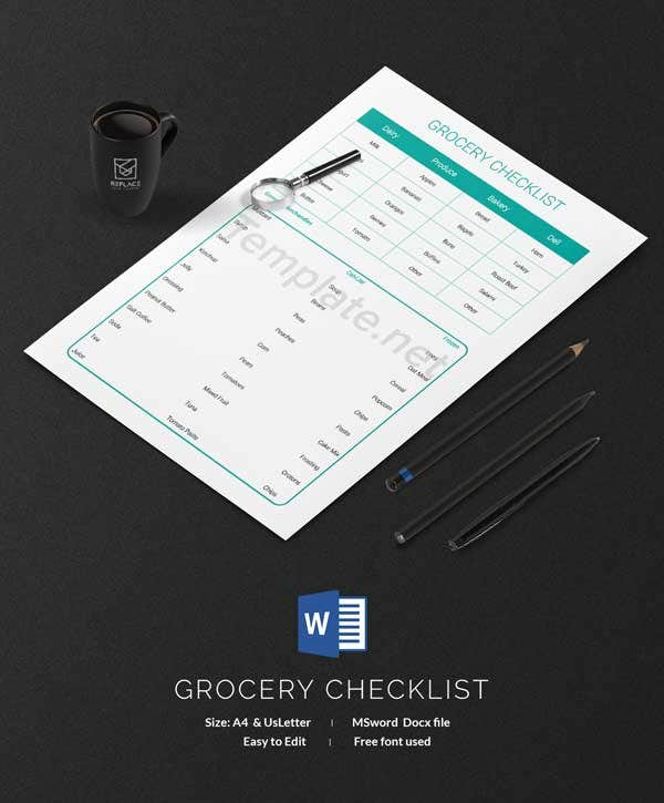 Grocery Checklist Template