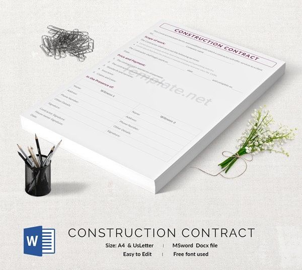Construction Contract Template