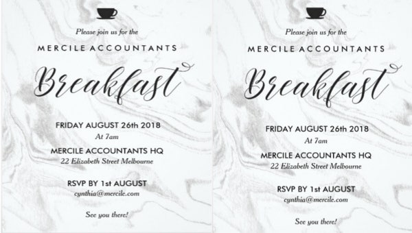 11 Business Breakfast Invitations Psd Ai Vector Eps
