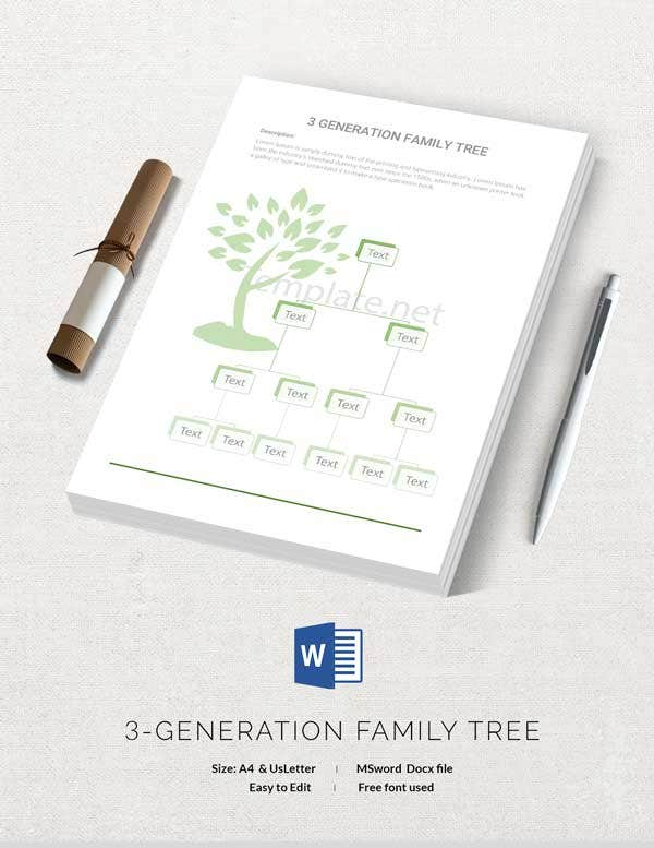 Printable Generation Family Tree Template