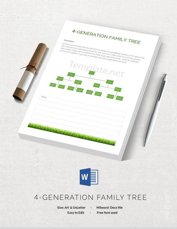 Customize Generation Family Tree Template