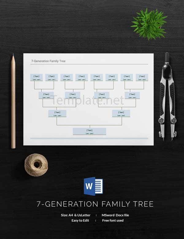 Sample Generation Family Tree Template