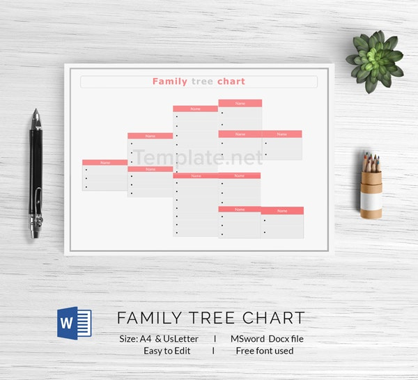 Family Tree Chart Template