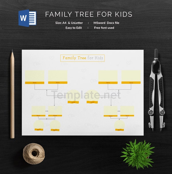 Family Tree for Kids Template