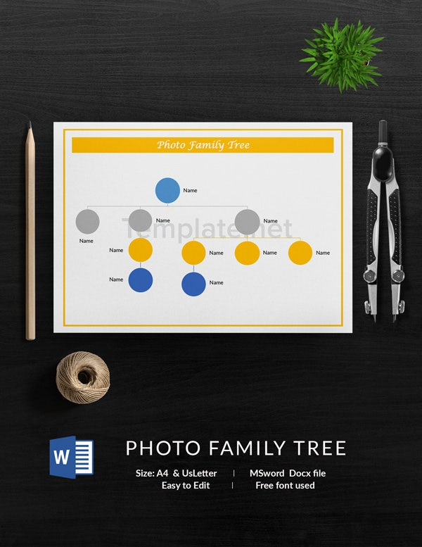 Photo Family Tree Template