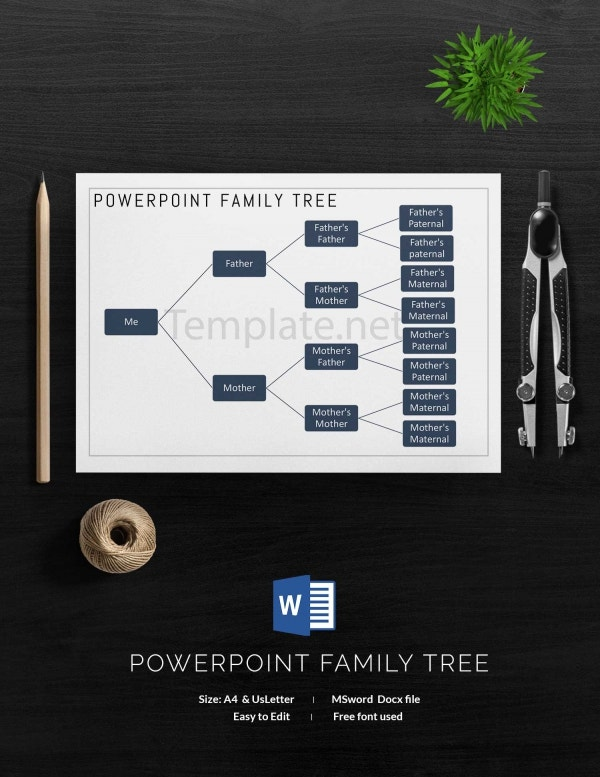 Power Point Family Tree Template