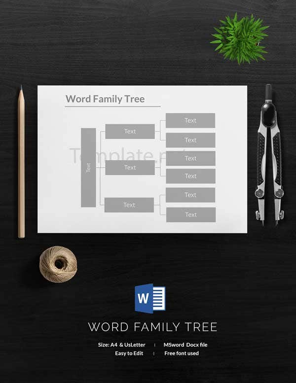 Word Family Tree Template