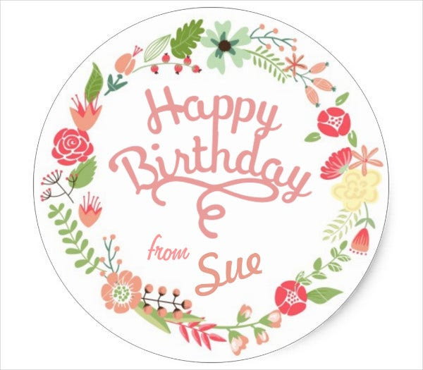 Customized Birthday Gift Tag