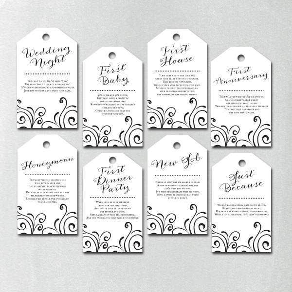 wedding shower gift list template - 9 wedding gift tags psd vector eps jpg download