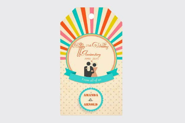 Wedding Anniversary Gift Tag