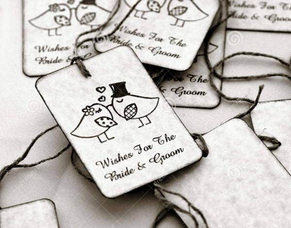 Unique Wedding Gift Tag