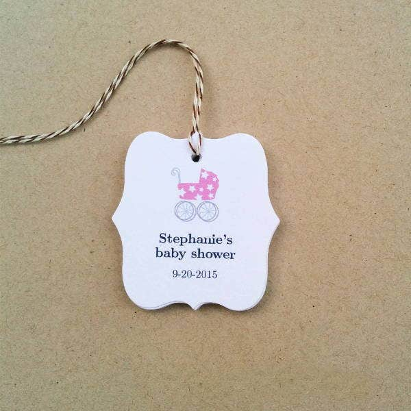 personalized baby shower gift tag