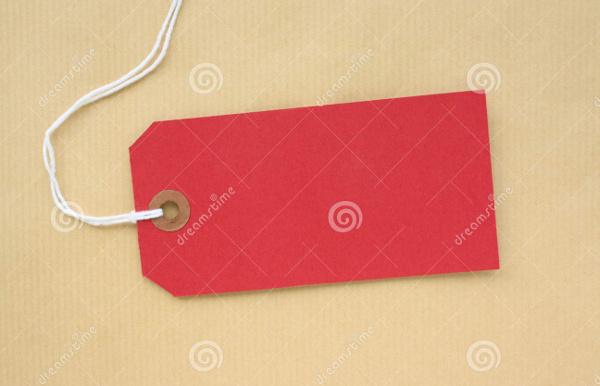 blank luggage gift tag