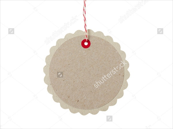 rounded blank gift tag