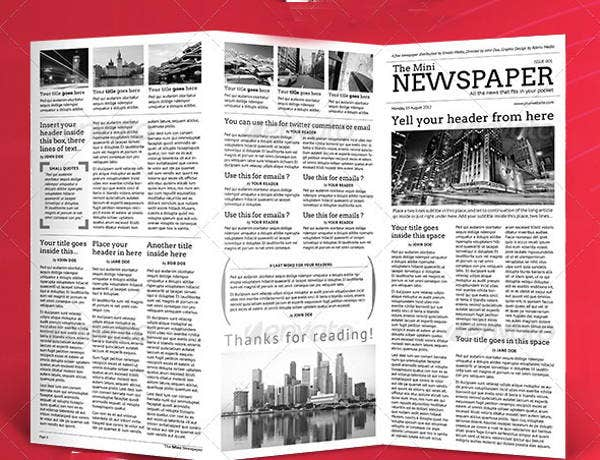 student-mini-newspaper-template