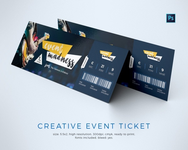 Event Ticket Templates  Free  Premium Templates
