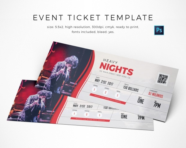 Event Night Ticket Template