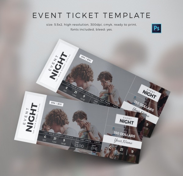 Customize Event Ticket Template