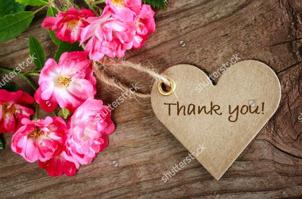 wooden thank you gift tag