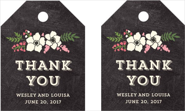 personalized thank you gift tag