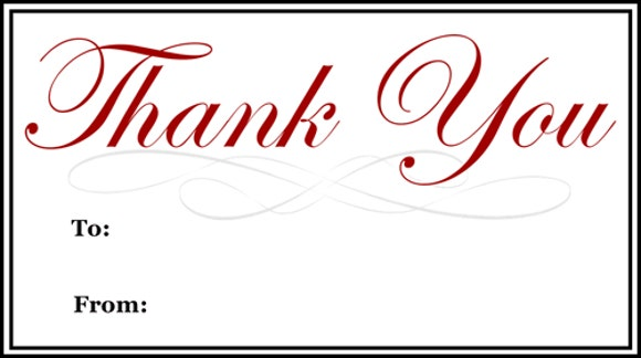 graphic relating to Thank You Gift Tags Printable called 9+ Thank-Oneself Present Tags - PSD, Vector EPS No cost Top quality