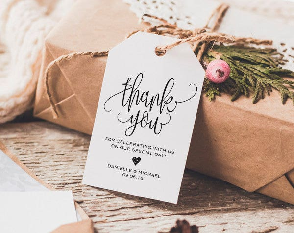 wedding thank you gift tag1
