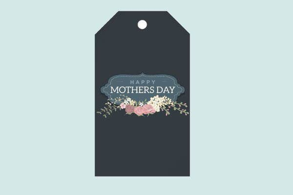 vintage mothers day gift tag