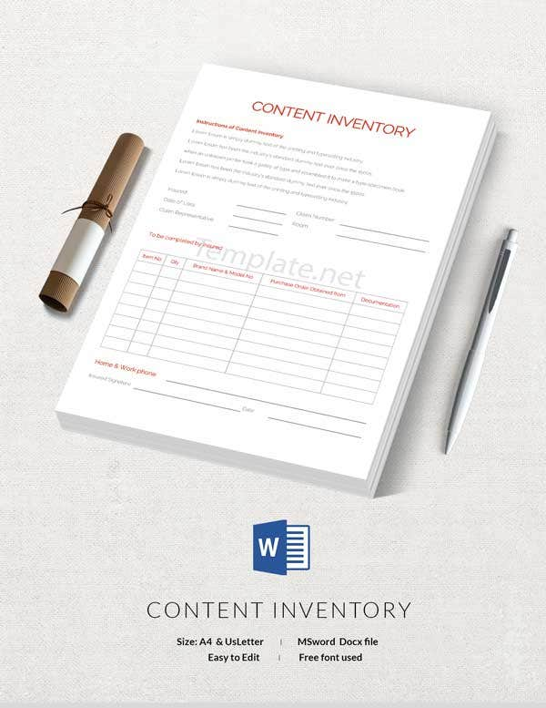Content Inventory Template
